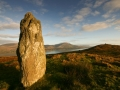 standing stone at  sunrise